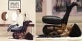 Foto Rasis: Wanita Cantik Duduk di Kursi Patung Wanita Kulit Hitam