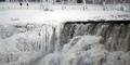 Suhu Dingin Melanda Amerika, Air Terjun Niagara Membeku