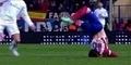 VIDEO: Ditabrak Cristiano Ronaldo, Leher Bek Atletico Madrid Javier Manquillo Nyaris Patah!