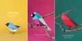 Aneka Burung Kertas Cantik dari Berbagai Dunia