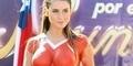 Body Painting Model Seksi Chili untuk Piala Dunia 2014
