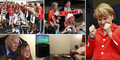 Ekspresi Pemimpin Dunia Saat Nonton Piala Dunia 2014