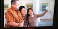 Foto Selfie Lala Karmela Bareng Pak SBY - Ibu Ani