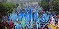 10.000 Buruh Unjuk Rasa di Bundaran HI dan Istana Negara