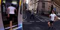 Aksi Lari James Hepstonstall Kalahkan Kecepatan Kereta