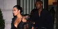 Foto Kim Kardashian-North West Seksi Transparan di Paris Fashion Week
