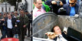 Aksi Demonstran Ukraina Lempar Pejabat Ke Tong Sampah