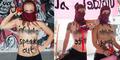 Aksi Aktivis Femen Demo Bugil Kecam ISIS