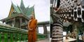 Foto Kuil Buddha di Thailand Tersusun dari 1,5 Juta Botol Bir Bekas