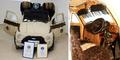 Foto Modifikasi Mobil Fiat 500 Ditutupi Rambut Manusia