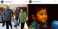 Foto SBY dan Ibu Ani Momong Cucu di Mal