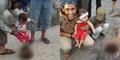 Foto Ayah Ajari Anaknya Tendang Penggalan Kepala Korban ISIS