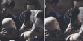 Foto Bayi Pegang Hidung Anjing Dapat Hadiah Rp 232 Juta