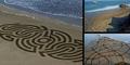 Foto Lukisan Mural Raksasa di Pantai Karya Andres Amador