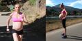 Hamil Besar, Clara Peterson Tetap Rutin Berlari