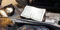 Al-Quran Ditemukan Utuh dari Mobil yang Hangus Terbakar