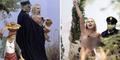 Foto Aktivis Femen Protes Bugil di Misa Natal Vatikan