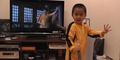 Bocah 4 Tahun Tirukan Aksi Bruce Lee