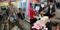 Foto Nikita Mirzani Pose Seksi Menggoda di Atas Meja Kasir Mall