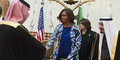 Heboh Michelle Obama Tak Berkerudung Saat ke Saudi