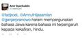 Heboh Bahasa Jawa Haram!