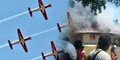 2 Pesawat Jupiter TNI AU Jatuh Tabrakan di Malaysia