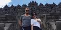 Syahrini Foto Bareng Dash Berlin di Candi Borobudur