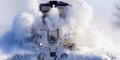 Video Kereta Api Terobos Salju Tebal