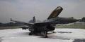 Foto Jet Tempur F-16 Meledak di Lanud Halim Perdanakusuma