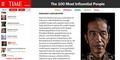Jokowi Masuk 100 Tokoh Paling Berpengaruh Versi Time