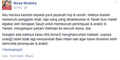 Dosen UMY Lecehkan Islam Gegerkan Facebook