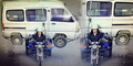 Pria Angkut Minibus Pakai Motor Jadi Buronan Polantas