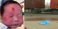 Bayi Lahir 'Brojol' Terjatuh Dari Sepeda Motor Ditemukan Selamat