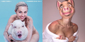 Foto Miley Cyrus Bugil Bareng Babi di Majalah Paper