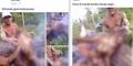 Kejam! Pamer Foto Bakar Orangutan Buat Menu Buka Puasa