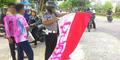 Pelajar SMP Konvoi Kelulusan Coret Bendera Merah Putih Ditahan