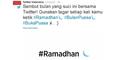 3 Tagar Twitter Sambut Ramadan #Ramadhan #BulanPuasa #BukaPuasa