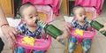 Foto Bayi Kecanduan Minum Bir Akibat Ulah Bapaknya