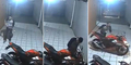 Jelang Lebaran, Maling CBR Terekam CCTV