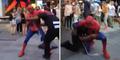 Aksi Spiderman Membela Muslim AS Korban Rasisme