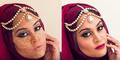 Merias Wajah Shahina Aslam Pakai Teknik Henna Contouring