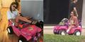 SIM Disita Polisi, Cewek Cantik ke Kampus Naik Mobil Barbie