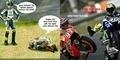 Kumpulan Meme Kocak Valentino Rossi Vs Marc Marquez