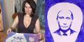 Nih, Seniman Wanita Lukis Putin Pakai Payudara