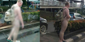 Foto Bule Misterius Jalan-jalan Bugil di HR Rasuna Said