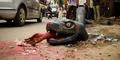 Geram Dengan Pihak Berwenang, Seniman India Bikin Karya Di Atas Jalan Berlubang