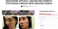 Tak Beri Jalan, Mahasiswi Cantik Dipukuli PNS Kota Pontianak