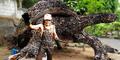 Pria Asli Malang Bikin Kura-kura Raksasa dari Onderdil Bekas