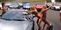 Video Wanita Pencuci Mobil di Taiwan Berbikini Meski Cuaca Dingin