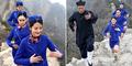 Foto: Pramugari China Belajar Kungfu di Puncak Gunung